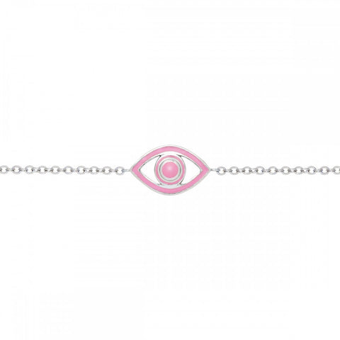 Fortuna Mini Eye Light Pink Bracelet