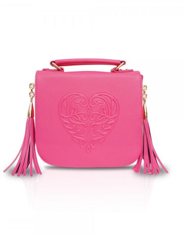 Pink Tassel Cross-body Bag - Haute Elan