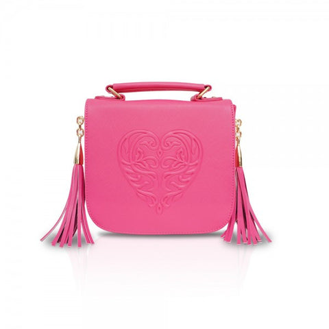 Pink Tassel Cross-body Bag