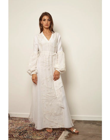 White embroidered Kaftan