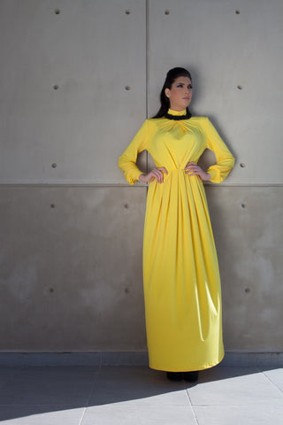 Savanah Yellow Maxi Dress