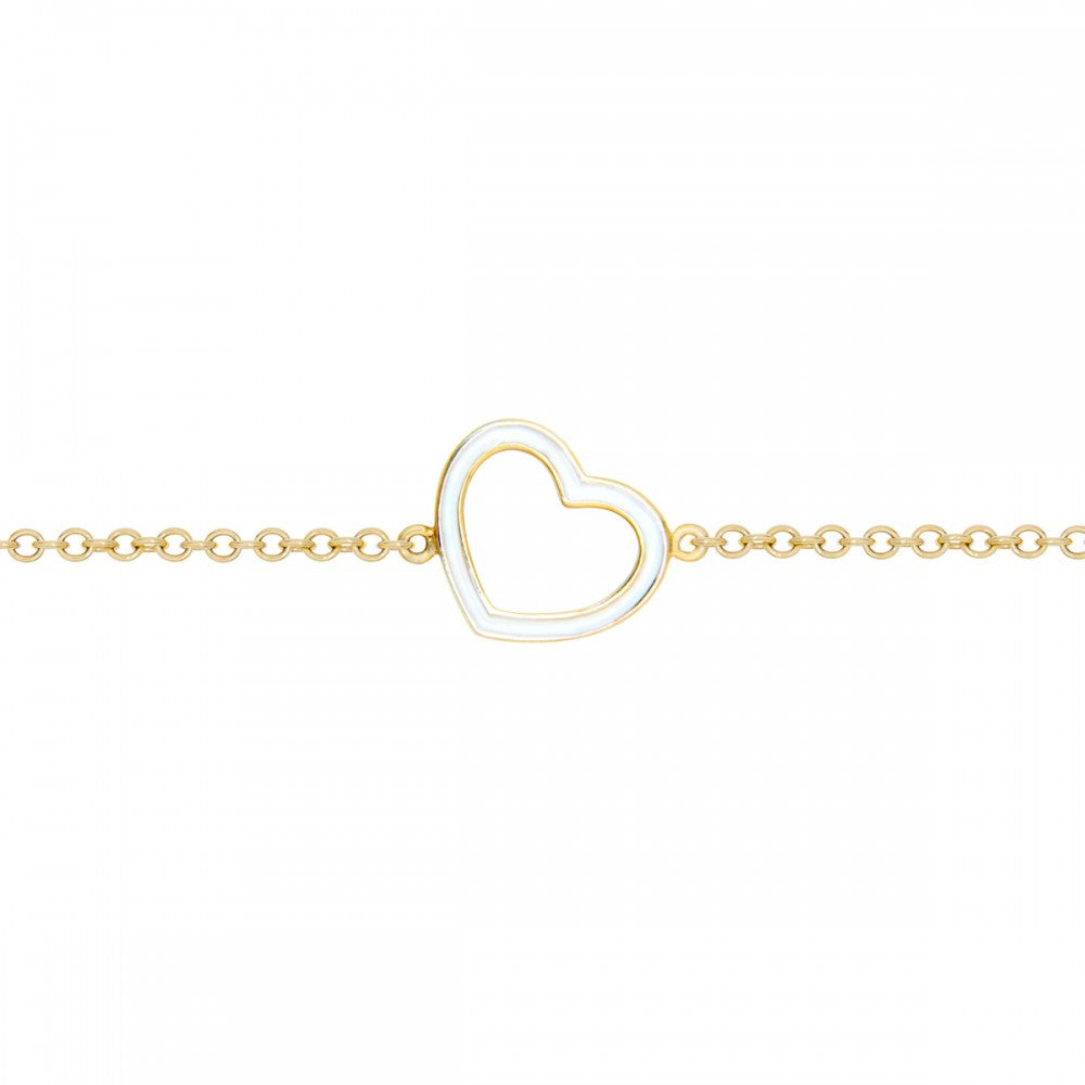 White Mini Heart Bracelet