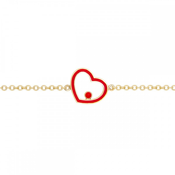Red Mini Heart with Eye Bracelet