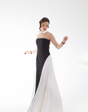 Sounya Long Contoured Dress - Haute Elan