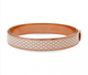 Salamander Cream & Rose Gold Bangle - Haute Elan