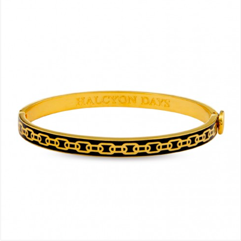 Skinny Chain Black & Gold Bangle