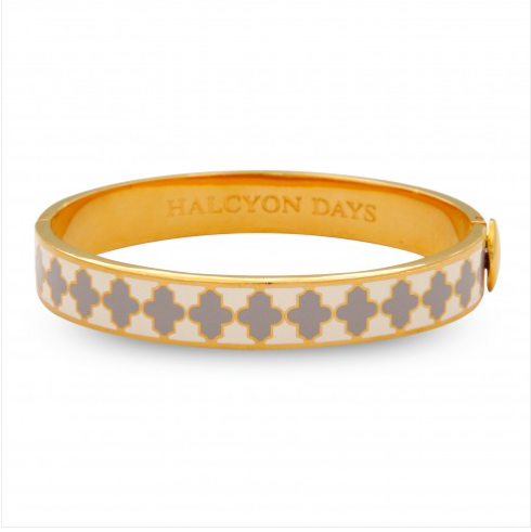Agama Cream, Gray & Gold Bangle - Haute Elan