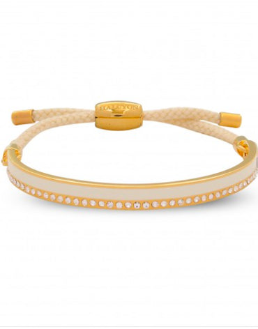 Friendship Skinny Plain Sparkle Cream & Gold Bangle