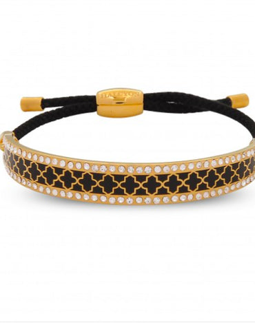 Friendship Agama Sparkle Black & Gold Bangle