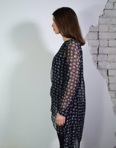 Printed wrapped blouse - Haute Elan