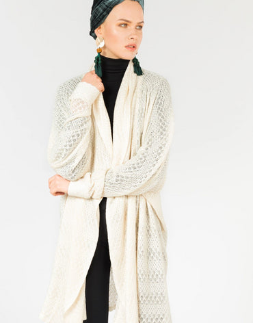 COTTON WRAP AROUND CARDIGAN - Haute Elan