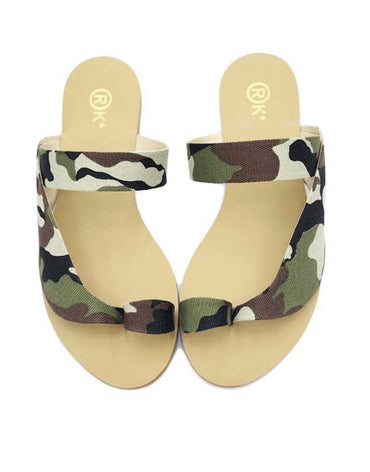 Nejdees Military Fabric Flats