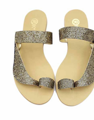 Nejdees Bronze Strass Flats