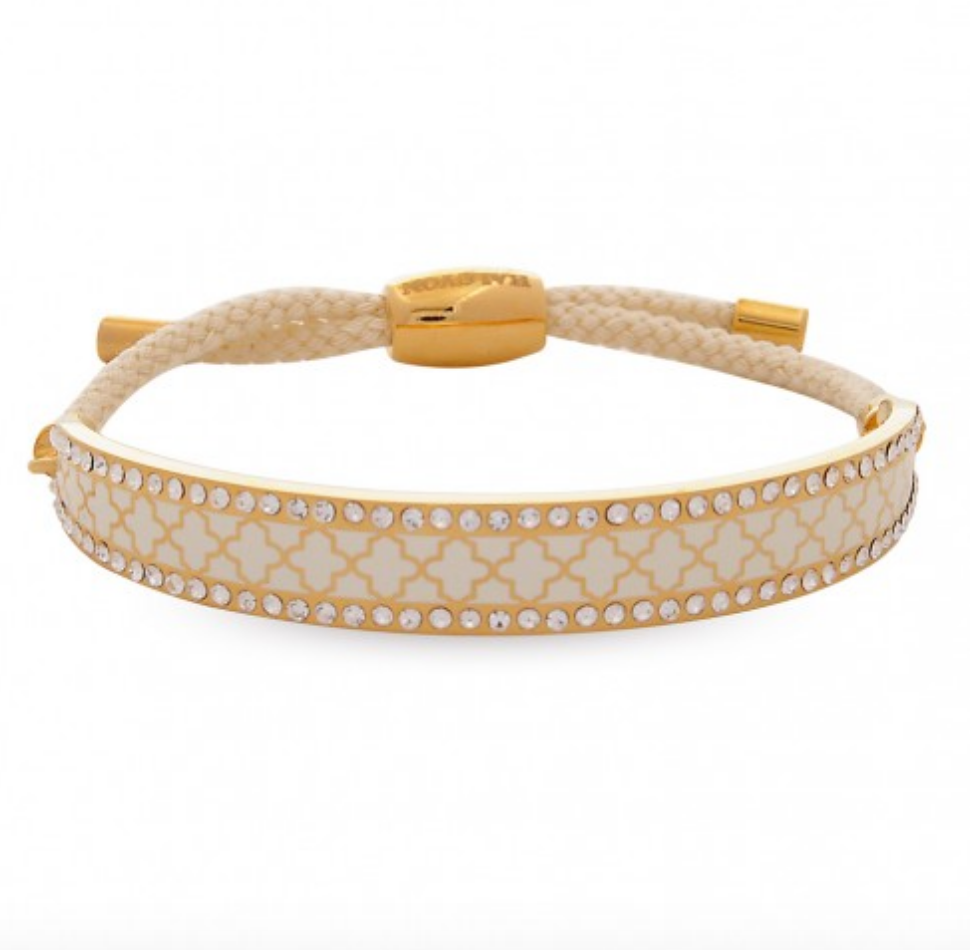 Friendship Agama Sparkle Cream & Gold Bangle