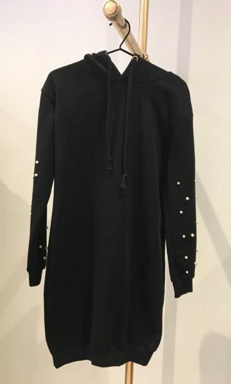 CHERRY KOKO Black Beaded Hoodie - Haute Elan