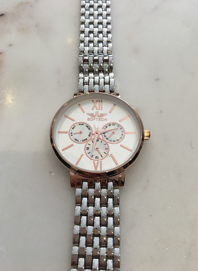 Classic Silver and Rose Gold Watch - Haute Elan