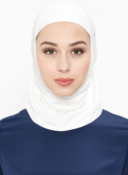 White Sports Hijab - Haute Elan