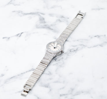 Embellished Silver Watch - Haute Elan