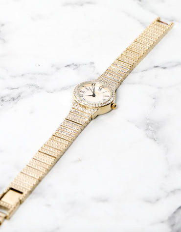 Embellished Gold Watch - Haute Elan