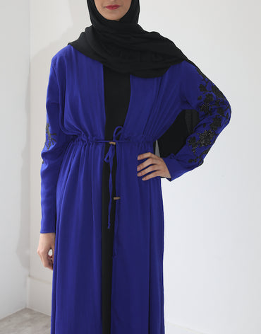 Classic Amirah Embroidered Royal Blue with Black Embroidery