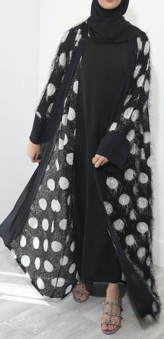 Light Feather Leopard Abaya