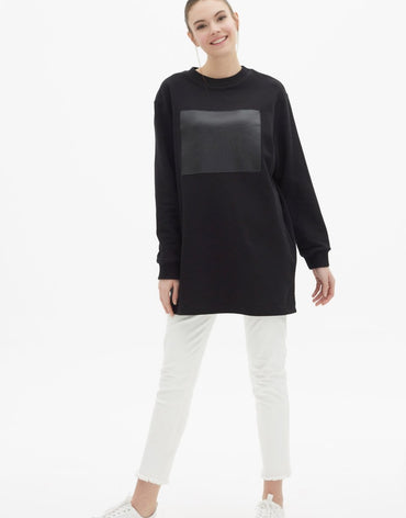 Touché Customizable Sweatshirt - Black - Haute Elan