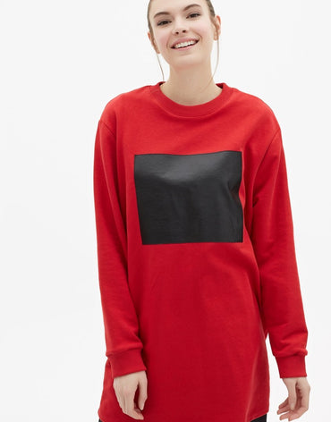 Touché Customizable Sweatshirt - Red - Haute Elan
