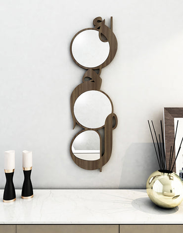 Vertical Mirrors Amal Natural Finish