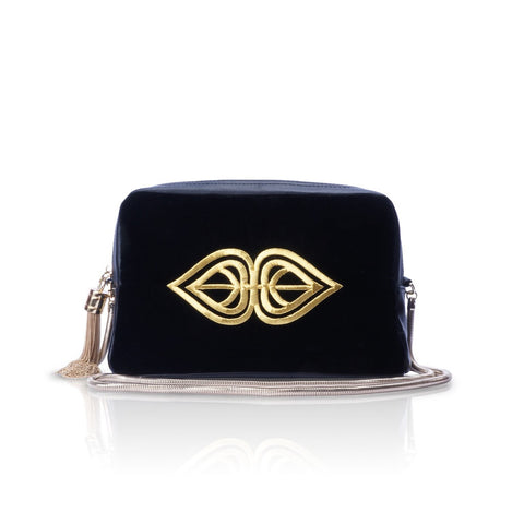 Tekat Black Velvet Sling Bag