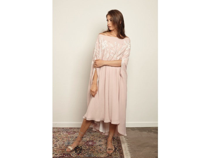 Wide Neck cape dress - Haute Elan