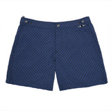 Mid-length Flat Front Nylon Swim Short With Graphic Print