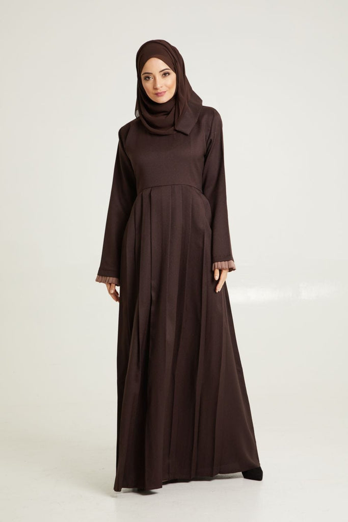 Dark Espresso Pleated Abaya