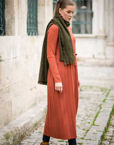 Abacı Orange Knitwear Tunic - Haute Elan