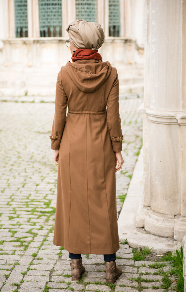 Abacı Camel Hooded Chasmere Topcoat - Haute Elan
