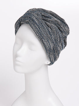 TWEED STANDARD TURBAN BLACK