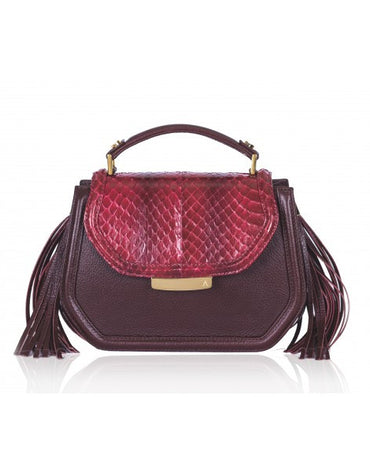 Water Snake Bordeaux Mini Anabella - Haute Elan