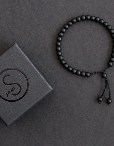 33 Bead Tasbih Bracelet Black Matt by Safar London