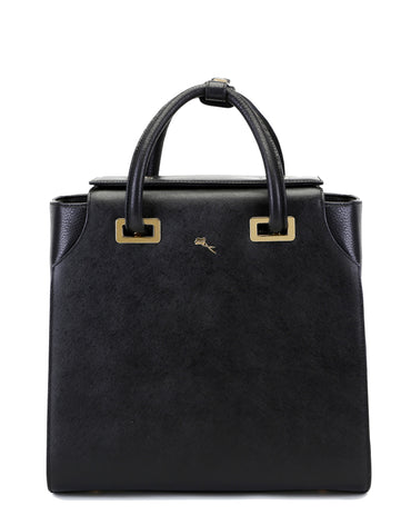 Black Chelsea Leather Tote