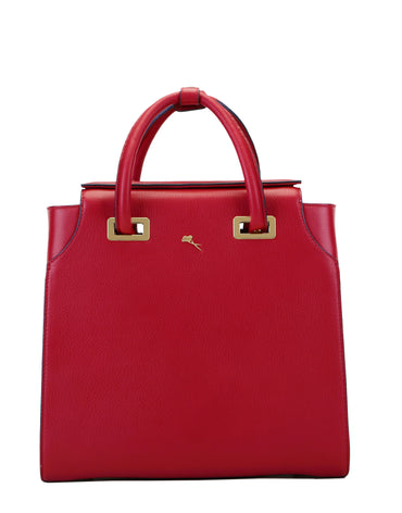 Red Chelsea Leather Tote