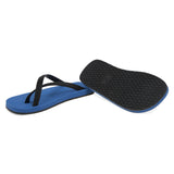 Bicolored Mid-blue and Black, Cross Toe Luxe Flip Flop