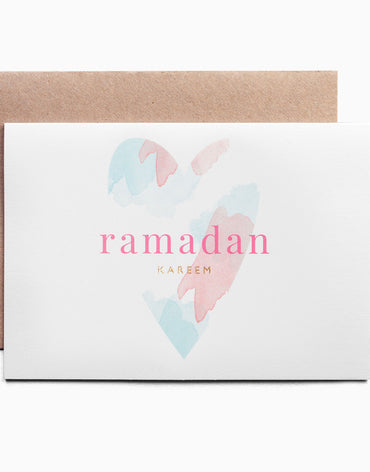 Ramadan Kareem Celebration greeting card - the Pastel collection