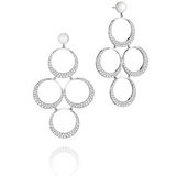 Charlotte White Gold Earrings