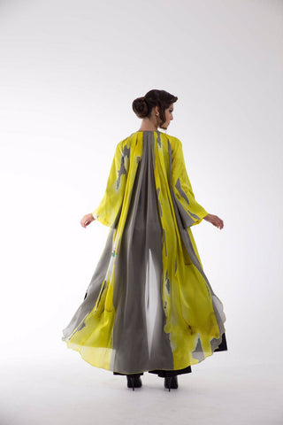 Rose Cape Grey/Yellow Kaftan