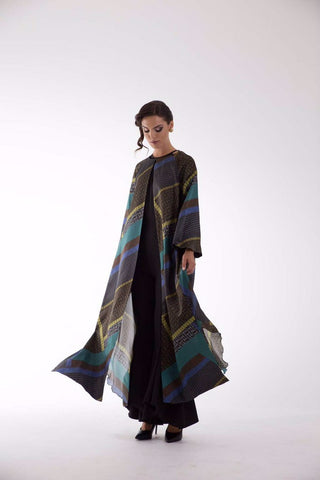 Rose Cape Blue/Grey Kaftan