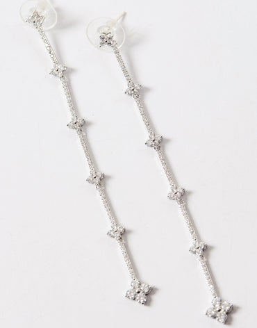 Long detail drop earrings