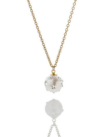 SPIKED PEARL PENDANT NECKLACE - Haute Elan