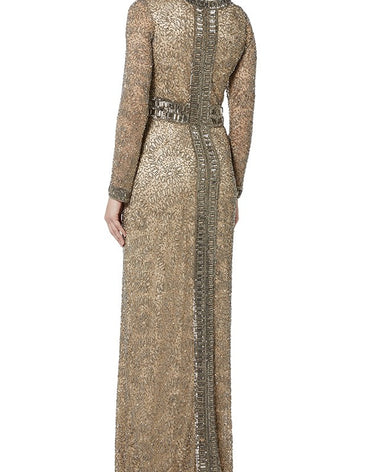 COPPER BEADED GOWN - Haute Elan