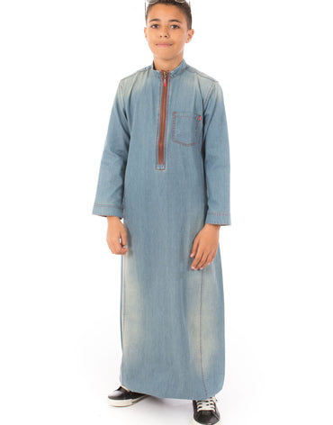 LIGHT DENIM JUBBA - Haute Elan