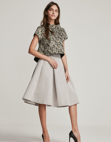 Grosgrain Grey Skirt