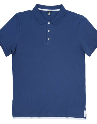 Cotton Piqué Polo With Raw Edge Detail - Haute Elan